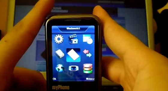 Interfejs myPhone 8825TV Vision